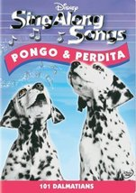 Pongo And Perdita 101 Dalmatians Sing Along Songs Disney DVD - $5.75