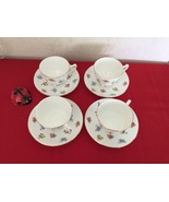 Crown Staffordshire Fine Bone China Floral Tea Cup and Saucer - England - $40.00