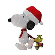 """Northlight 32"""" Peanuts Snoopy and Woodstock 2D Christmas Yard Decor - $82.90"""