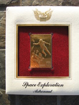 ASTRONAUT 1992 Space Exploration replica Cover 22 kt Gold Stamp FDI FDC ... - $7.91