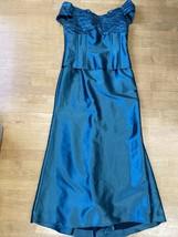 "Davids Bridal Teal Green Mother Of The Bride Dress Size 12 Bust 36"" - $98.01"
