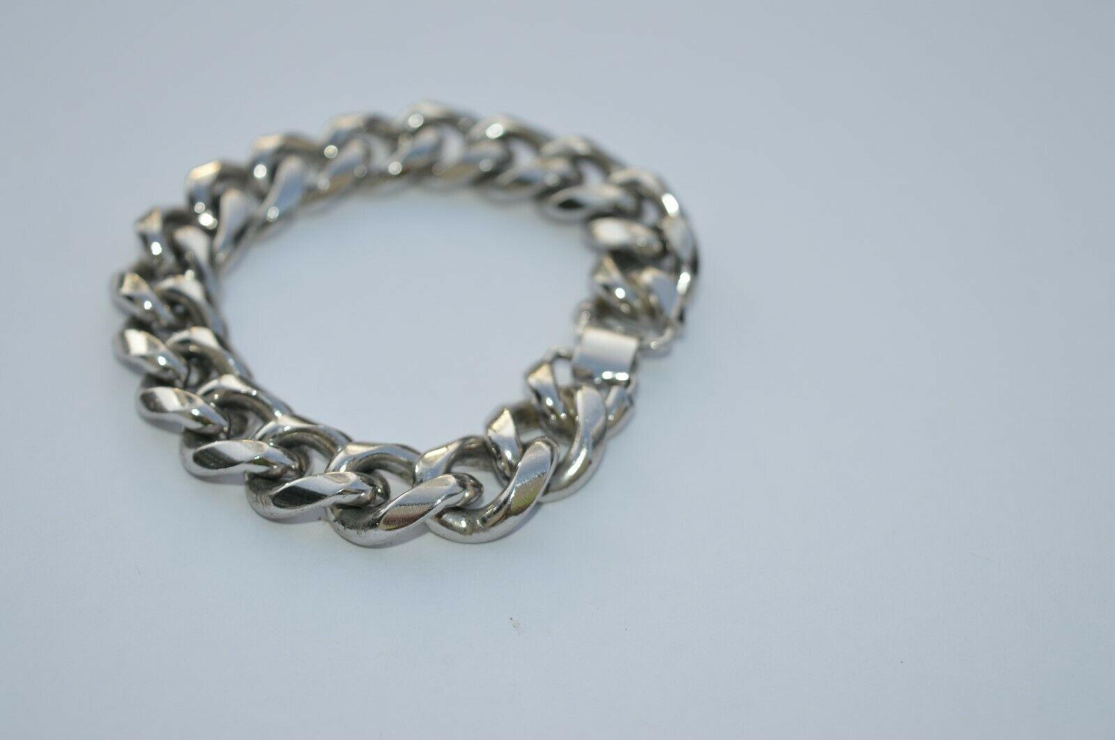 True Vtg NAPIER Heavy Link stainless steel Bracelet ''NICE'' image 2