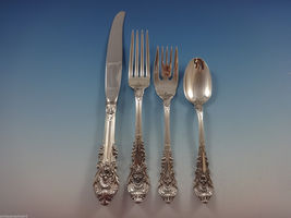 Sir Christopher by Wallace Sterling Silver Flatware Set For 12 Service 65 Pieces image 3