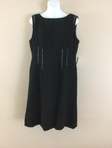 NWT Womens ANNE KLEIN  LITTLE BLACK SHEATH Beaded Sleeveless Cocktail DR... - $77.31