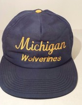 Michigan Wolverines Blue Gold Signature Snap Back Baseball Cap Hat Snap ... - $9.89