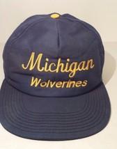 Michigan Wolverines Blue Gold Signature Snap Back Baseball Cap Hat Snap ... - $9.89