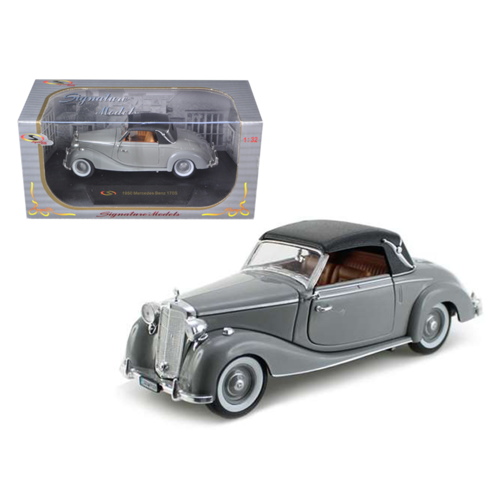 1950 Mercedes 170s Soft Top Gray 1/32 Diecast Model Car by Signature Models 3237