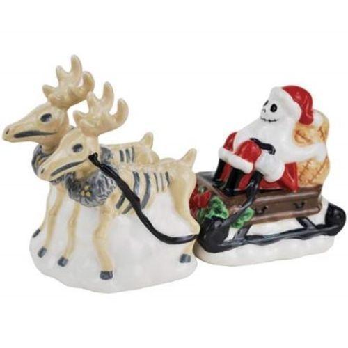 Nightmare Before Christmas Jack as Santa with Reindeer Salt & Pepper Shakers Set