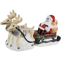 Nightmare Before Christmas Jack as Santa with Reindeer Salt & Pepper Sha... - $29.75