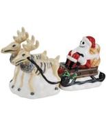 Nightmare Before Christmas Jack as Santa with Reindeer Salt & Pepper Sha... - $30.95