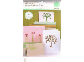 Martha Stewart Create Glittered Botanical Cards Kit #MA441002