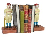 Batter Up! Vintage Baseball Slugger Cast Iron Sculptural Bookend Pair