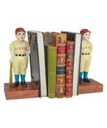 Batter Up! Vintage Baseball Slugger Cast Iron Sculptural Bookend Pair - $92.74