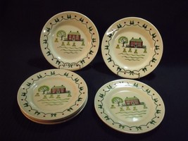 "(6) METLOX POPPY TRAIL HOMESTEAD 50'S 7 1/2"" SALAD PLATES NOS - $39.60"