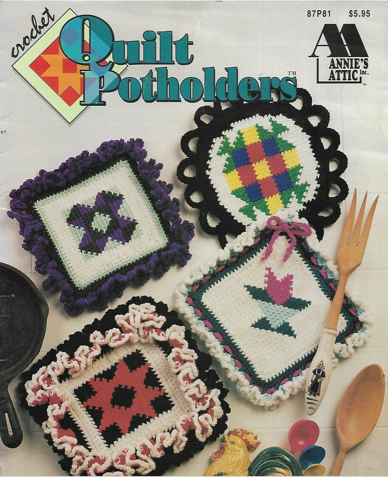 Annie's Attic Crochet-Quilt Potholders - $5.86