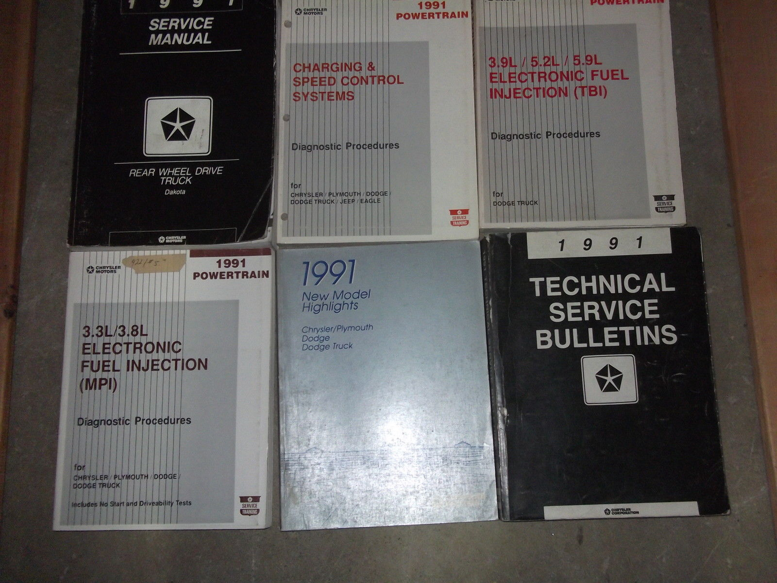 Primary image for 1991 Dodge Dakota TRUCK Service Repair Shop Manual SET W TECH BULLETINS + MORE