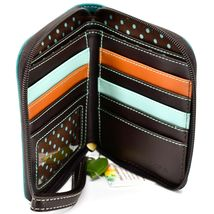 Chala Handbags Faux Leather Whimsical Dragonfly Zip Around Wristlet Wallet image 3