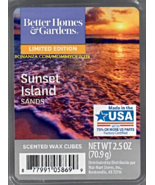 Sunset Island Sands Better Homes and Gardens Scented Wax Cubes Tarts Melt Candle - $3.50