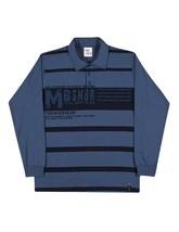 Tween Boys Long Sleeve Shirt Striped Polo Tee Pulla Bulla Sizes 10-16 Years - $10.35