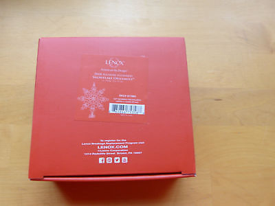 Lenox 2018 Gemmed Snowflake Ornament Annual Christmas Red Black Crystals NEW
