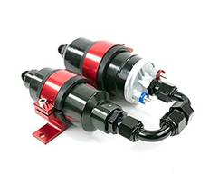 A-Team Performance Two in One Electric Fuel Pump and Inline Filter Kit with Moun