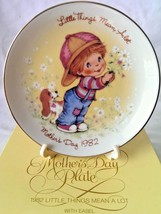 Mothers Day Gift Plate Little Things Mean A Lot New 1982 Avon 22K Gold Trim - $14.84