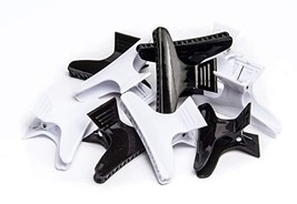 Diane Large butterfly clamps, black and white, 12 pack - $5.30