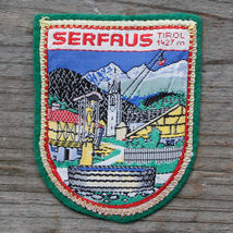 SERFAUS Vintage Travel Patch AUSTRIA Skiing Hiking Mountaineering NOS Sk... - $12.55