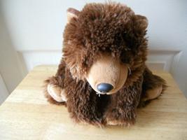 "Wild Republic Dark Brown Plush Bear K & M 12"" Lgth Stuffed Animal Toy - $8.78"