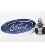 Ford Motor Company Wrist Watch unisex 1998 silver tone analog H30 - $137.77