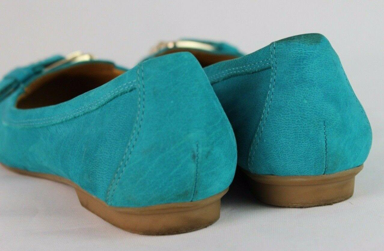 Nine West Manchado Mujer Zapatos Planos Bailarina Cuero Superior Talla Eu 7M