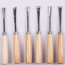 "Woodworking Hand Carving Knife 6 pieces carving chisel Carpenter""s Works... - $11.80"