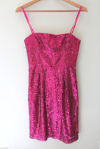 NEW! BCBG Max Azria Gorgeous Hot Pink Azalea Sequined Convertible Carole Dress 0 - $178.00