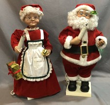 Mr and Mrs Santa Claus Motion Animated Figures Christmas Large 21 Inch ... - $49.49