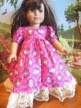"""homemade 18"""" american girl/madame alexan frozen anna/elsa nightgown doll clothes - $19.60"""