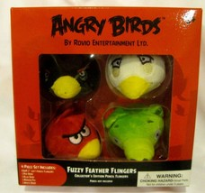 "Angry Birds & Friends 4pc 2"" Angry Birds Fuzzy Feather Fingers Pencil To... - $34.64"