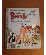 A Little Golden Book~ Bambi Friends Of The Forest 1975 - $2.96