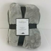"Threshold  Seagull Gray Microplush Blanket Full/Queen 90"" x 92"" NEW  - $39.59"