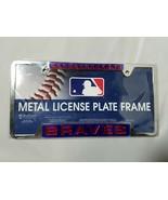 Atlanta Braves License Plate Frame MLB Metal WinCraft Collectible - $23.24