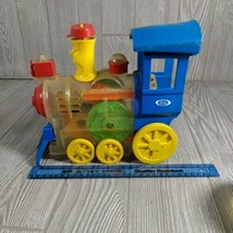 Vintage 1974 Ideal Toys Lil Toot Wind Up Whistling Train Works (missing wheel) - £13.59 GBP