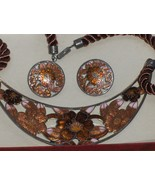 Cloisonne Enamel Necklace Set SITI - $24.97