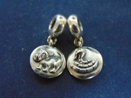 2 VINTAGE ESTATE .925 STERLING SILVER PANDORA CHARMS 9.4g  E2309 - $34.99