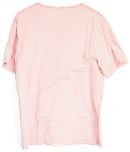 Urban Outfitters Standard Fit Pink Thin Stripe Striped Short Sleeve Shirt Size L image 2