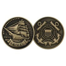 COAST GUARD  USCGC CUTTER  EAGLE BRONZE CHALLENGE COIN - $17.14