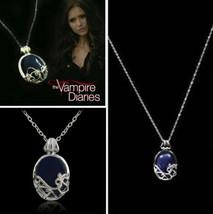 The Vampire Diaries Katherine Pierce Antique Silver Pendant & Necklace S... - $4.55