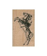 NEW Bucking Cowboy RUBBER STAMP, Cowboy Stamp, Western Stamp, Old West S... - $9.50