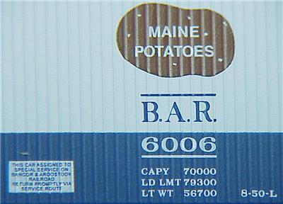 Micro Trains 49550 BAR 40' Reefer 6006