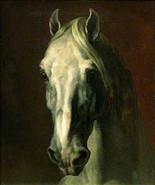 "12.5 x 15"" Cotton Canvas Print, Portrait of Horse Head, 1814, Theodore G... - $23.99"