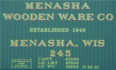 Micro Trains 39200 Menasha 40' Boxcar 245
