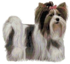 Biewer Terrier Dog Counted Cross Stitch Pattern - $14.69